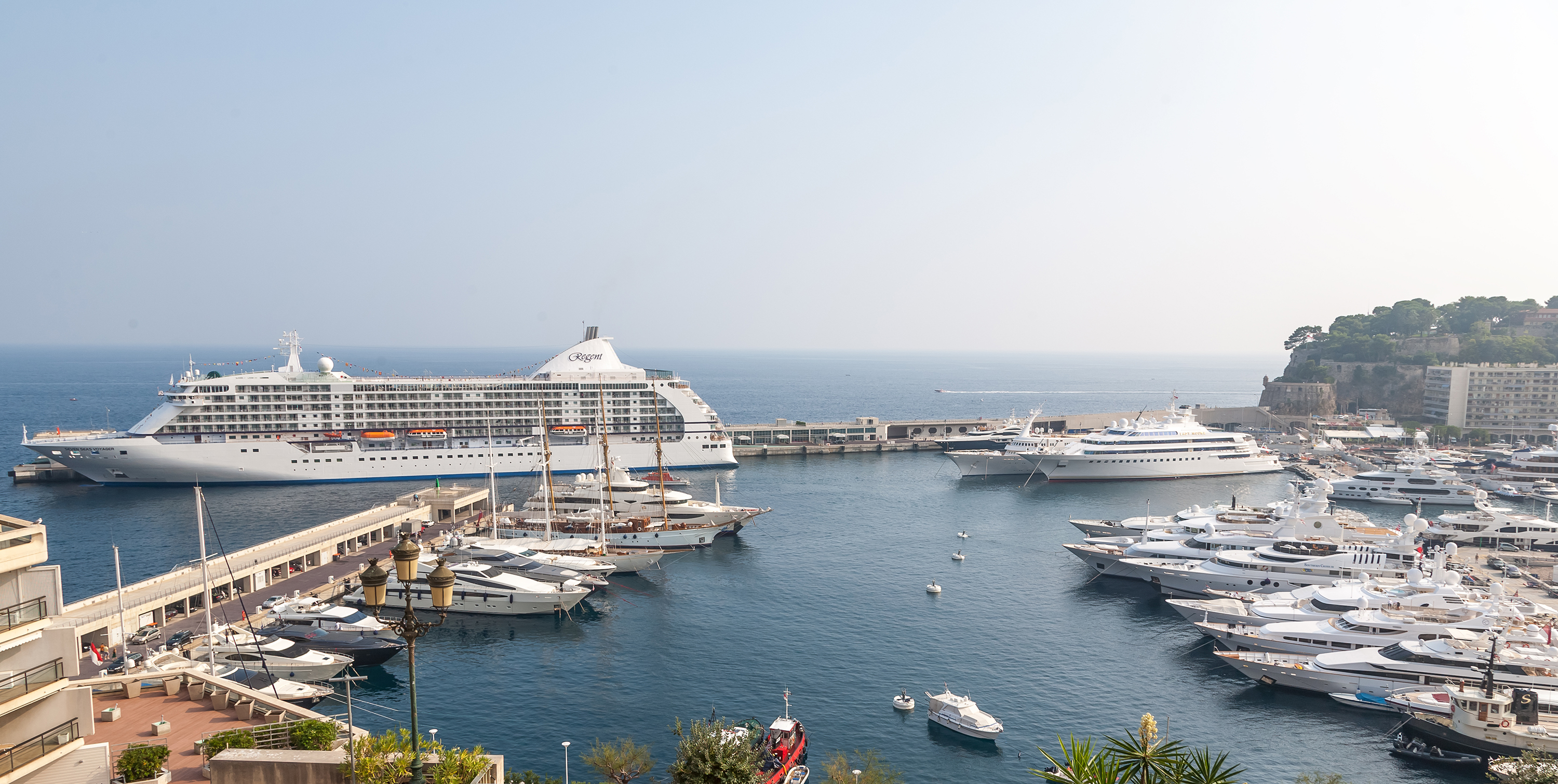 Seven Seas Voyager docked in Monaco